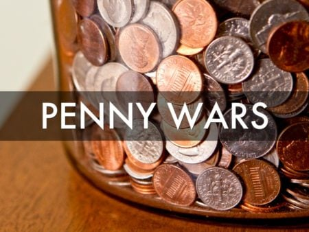 penny wars school fundraising idea